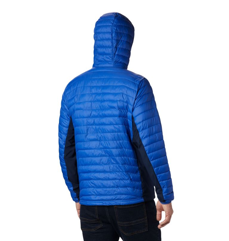 Powder Pass™ Hooded Jacket | 437 | S Giacca con cappuccio Powder Pass™ Hybrid da uomo, Azul, Collegiate Navy, back