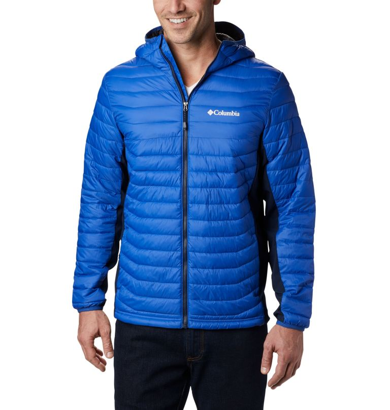 Powder Pass™ Hooded Jacket | 437 | S Giacca con cappuccio Powder Pass™ Hybrid da uomo, Azul, Collegiate Navy, front