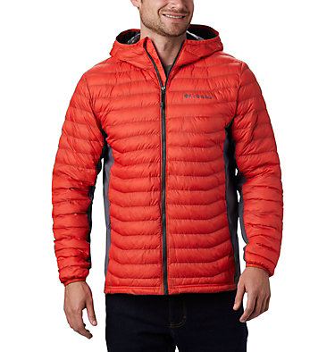 Chaqueta híbrida con capucha Powder Pass™ para hombre Powder Pass™ Hooded Jacket | 437 | S, Wildfire, front