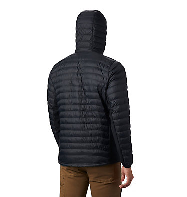Men's Powder Pass™ Hooded Jacket - plus size Powder Pass™ Hooded Jacket | 019 | 1X, Black, back