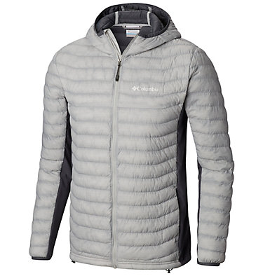 Men's Powder Pass™ Hooded Jacket Powder Pass™ Hooded Jacket | 441 | XXL, Cool Grey Heather, Graphite, front
