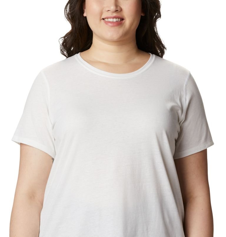 Solar Shield™ Short Sleeve Shirt | 100 | 2X Women's Solar Shield™ Short Sleeve Shirt – Plus Size, White, a2