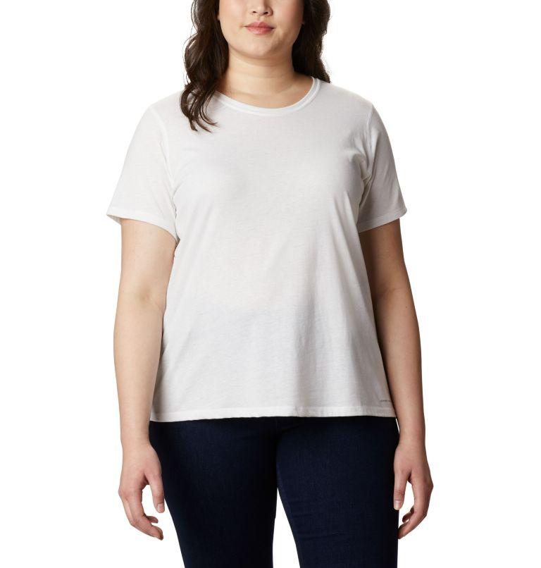 Solar Shield™ Short Sleeve Shirt | 100 | 2X Women's Solar Shield™ Short Sleeve Shirt – Plus Size, White, front
