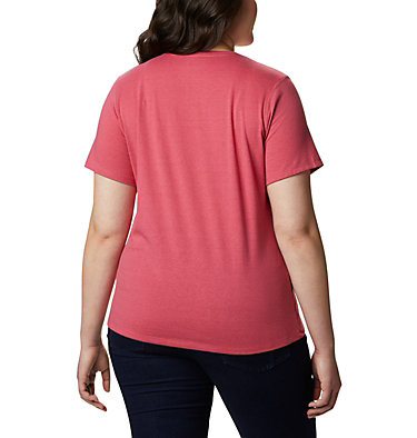 Women's Solar Shield™ Short Sleeve Shirt – Plus Size Solar Shield™ Short Sleeve Shirt | 634 | 1X, Rouge Pink, back