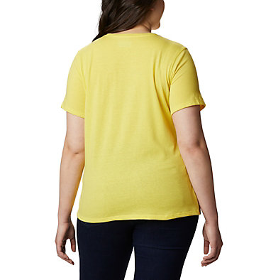 Women's Solar Shield™ Short Sleeve Shirt – Plus Size Solar Shield™ Short Sleeve Shirt | 634 | 1X, Buttercup, back