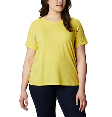 Women's Solar Shield™ Short Sleeve Shirt – Plus Size Solar Shield™ Short Sleeve Shirt | 634 | 1X, Buttercup, front