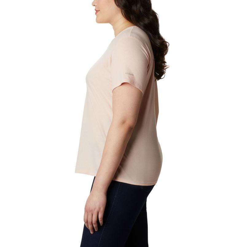 Solar Shield™ Short Sleeve Shirt | 870 | 2X Women's Solar Shield™ Short Sleeve Shirt – Plus Size, Peach Cloud, a1