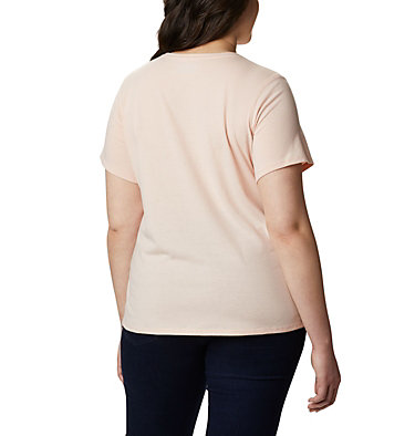 Women's Solar Shield™ Short Sleeve Shirt – Plus Size Solar Shield™ Short Sleeve Shirt | 634 | 1X, Peach Cloud, back