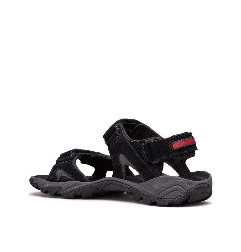 SANTIAM™ 3 STRAP | 010 | 11 Men's Santiam™ 3 Strap Sandal, Black, Mountain Red, 3/4 back