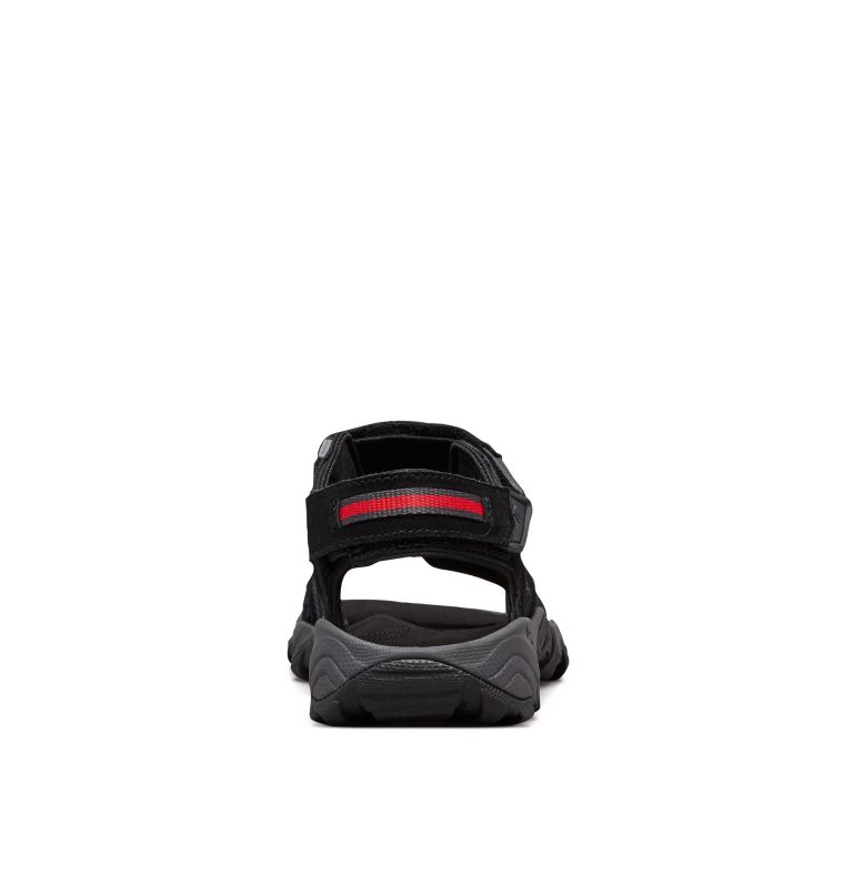 SANTIAM™ 3 STRAP | 010 | 8 Sandali Santiam™ 3 Strap da uomo, Black, Mountain Red, back