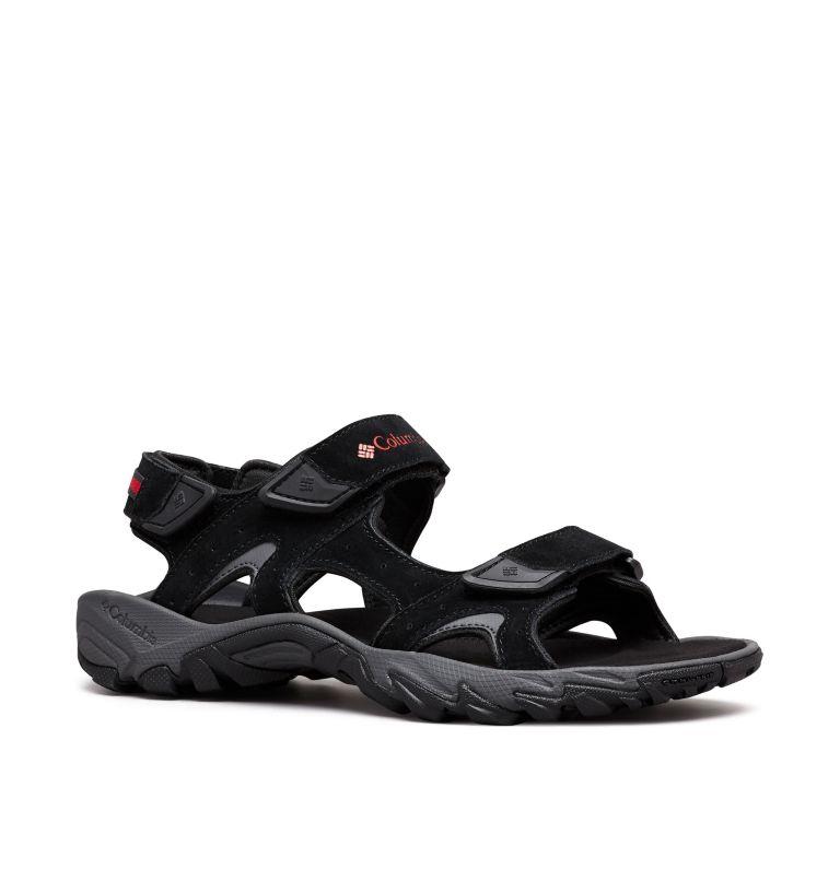 SANTIAM™ 3 STRAP | 010 | 11 Men's Santiam™ 3 Strap Sandal, Black, Mountain Red, 3/4 front