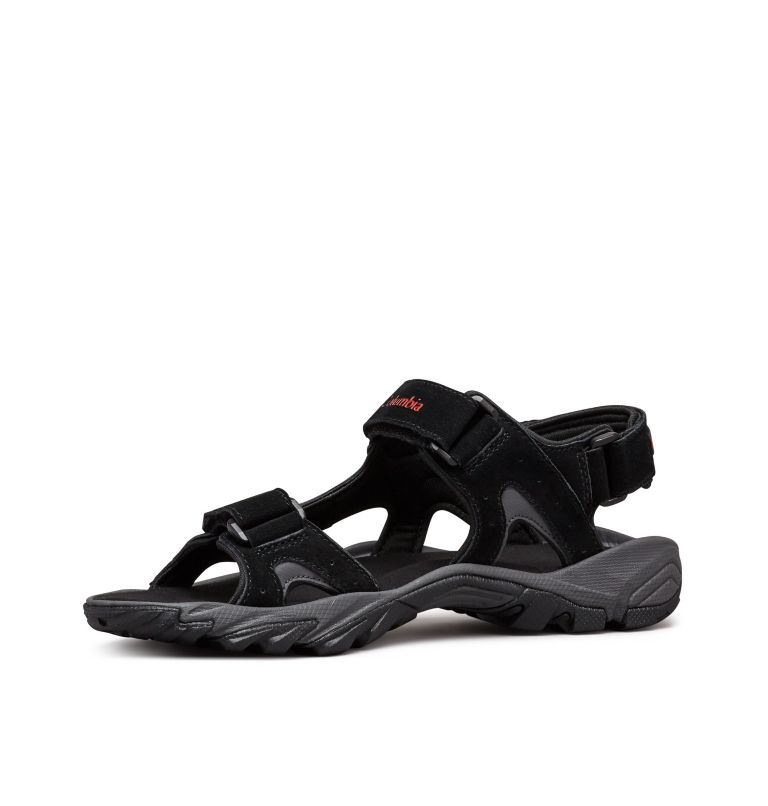 SANTIAM™ 3 STRAP | 010 | 11 Men's Santiam™ 3 Strap Sandal, Black, Mountain Red