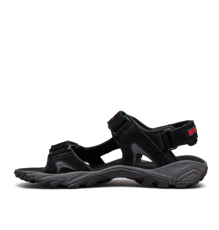 SANTIAM™ 3 STRAP | 010 | 11 Men's Santiam™ 3 Strap Sandal, Black, Mountain Red, medial
