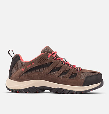 Women's Crestwood™ Hiking Shoe - Wide CRESTWOOD™ WIDE | 053 | 6.5, Mud, Red Coral, front
