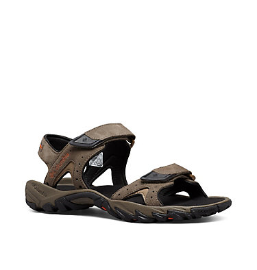 Men's Santiam™ Ankle Strap Sandal SANTIAM™ 2 STRAP | 255 | 10, Mud, Heatwave, 3/4 front