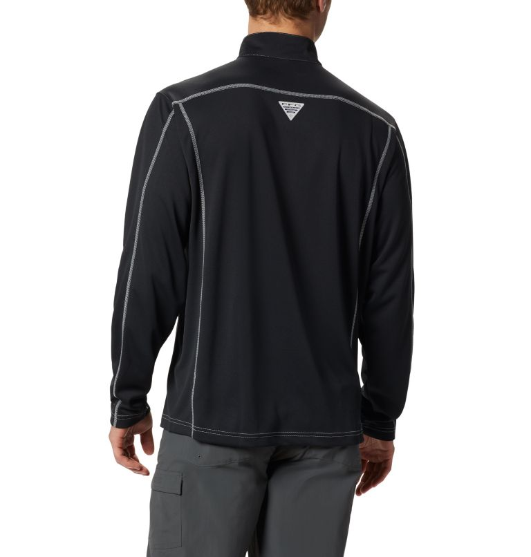 Low Drag™ 1/4 Zip | 010 | XL Men's PFG Low Drag™ 1/4 Zip Top, Black, back