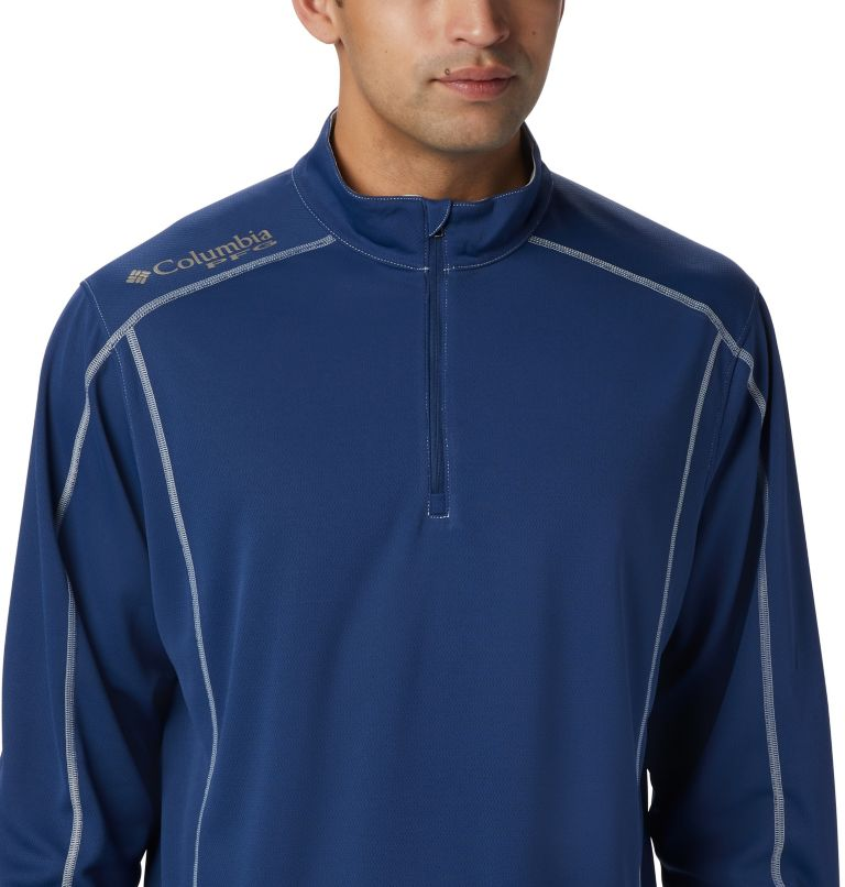 Low Drag™ 1/4 Zip | 469 | XS Men's PFG Low Drag™ 1/4 Zip Top, Carbon, a1