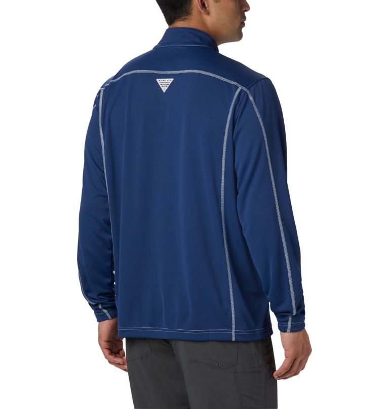 Low Drag™ 1/4 Zip | 469 | XS Men's PFG Low Drag™ 1/4 Zip Top, Carbon, back