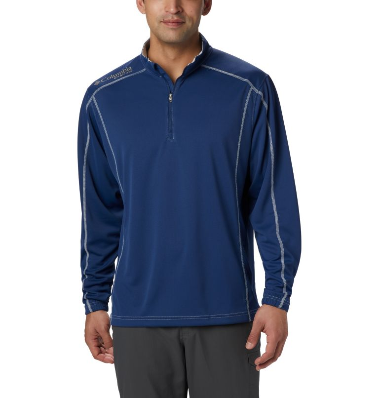 Low Drag™ 1/4 Zip | 469 | XS Men's PFG Low Drag™ 1/4 Zip Top, Carbon, front