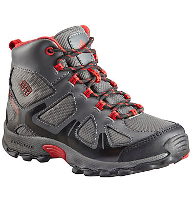 Botte Peakfreak™ XCRSN Mid WP Junior YOUTH PEAKFREAK™ XCRSN MID WP | 550 | 1, City Grey, Bright Red, front