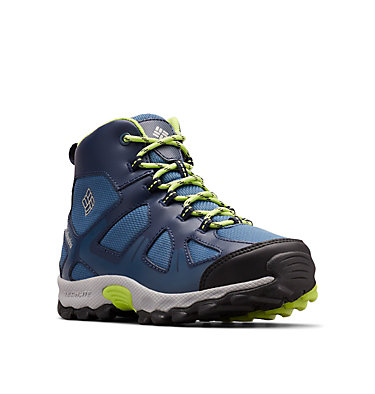 Youth Peakfreak™ XCRSN Mid Waterproof Boot YOUTH PEAKFREAK™ XCRSN MID WP | 550 | 1, Whale, Fission, 3/4 front