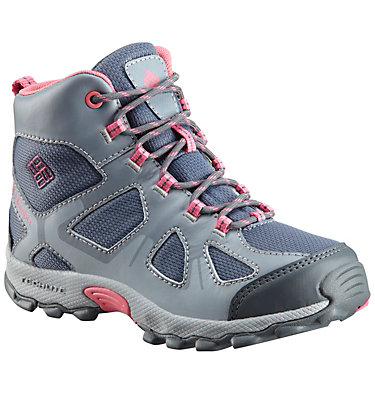Youth Peakfreak™ XCRSN Mid Waterproof Boot YOUTH PEAKFREAK™ XCRSN MID WP | 550 | 1, Mountain, Camellia Rose, front