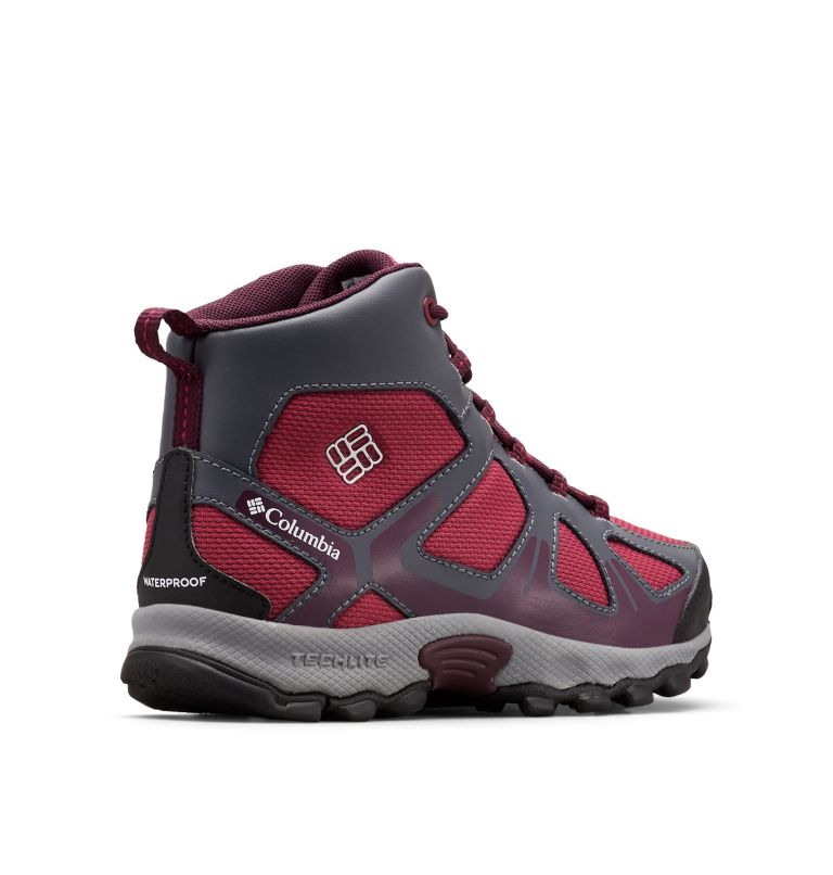 YOUTH PEAKFREAK™ XCRSN MID WP | 550 | 2 Botte Peakfreak™ XCRSN Mid WP Junior, Wine Berry, Black Cherry, 3/4 back