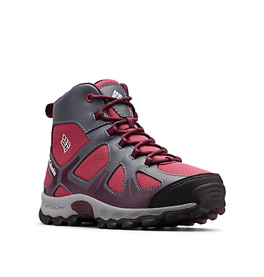 Youth Peakfreak™ XCRSN Mid Waterproof Boot YOUTH PEAKFREAK™ XCRSN MID WP | 550 | 1, Wine Berry, Black Cherry, 3/4 front