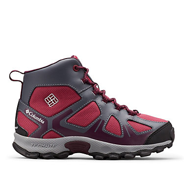 Youth Peakfreak™ XCRSN Mid Waterproof Boot YOUTH PEAKFREAK™ XCRSN MID WP | 550 | 1, Wine Berry, Black Cherry, front