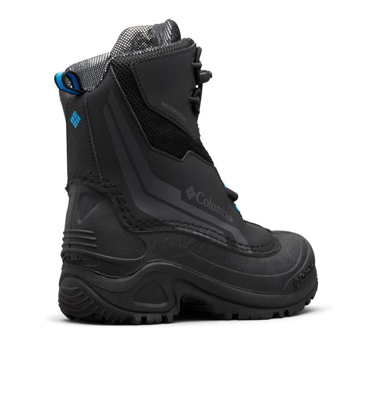 YOUTH BUGABOOT™ PLUS IV OMNI-HEAT™ | 010 | 7 Big Kids' Bugaboot™ Plus IV Omni-Heat™ Boot, Black, Hyper Blue, 3/4 back