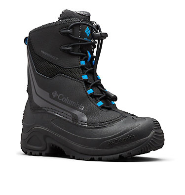 Big Kids' Bugaboot™ Plus IV Omni-Heat™ Boot YOUTH BUGABOOT™ PLUS IV OMNI-HEAT™ | 036 | 1, Black, Hyper Blue, 3/4 front