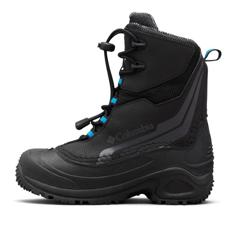 YOUTH BUGABOOT™ PLUS IV OMNI-HEAT™ | 010 | 7 Big Kids' Bugaboot™ Plus IV Omni-Heat™ Boot, Black, Hyper Blue, medial