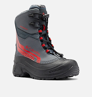 Big Kids' Bugaboot™ Plus IV Omni-Heat™ Boot YOUTH BUGABOOT™ PLUS IV OMNI-HEAT™ | 036 | 1, Graphite, Bright Red, 3/4 front