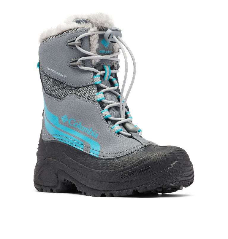 YOUTH BUGABOOT™ PLUS IV OMNI-HEAT™ | 033 | 1 Big Kids' Bugaboot™ Plus IV Omni-Heat™ Faux-Fur Trim Boot, Ti Grey Steel, Pacific Rim, 3/4 front