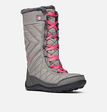 Big Kids' Minx™ Mid III Waterproof Omni-Heat™ Boot YOUTH MINX™ MID III WP OMNI-HE | 010 | 1, Stratus, Camellia Rose, 3/4 front