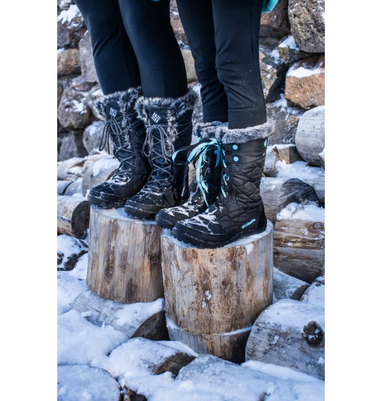 YOUTH MINX™ MID III WP OMNI-HE | 010 | 5 Botte De Neige Minx™ Mid III WP Omni-Heat™ Junior, Black, Iceberg, a9
