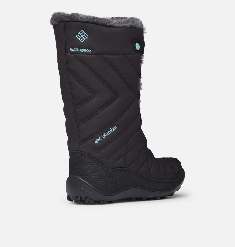YOUTH MINX™ MID III WP OMNI-HE | 010 | 7 Botte De Neige Minx™ Mid III WP Omni-Heat™ Junior, Black, Iceberg, 3/4 back