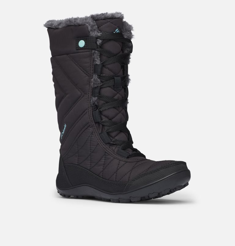 YOUTH MINX™ MID III WP OMNI-HE | 010 | 5 Botte De Neige Minx™ Mid III WP Omni-Heat™ Junior, Black, Iceberg, 3/4 front
