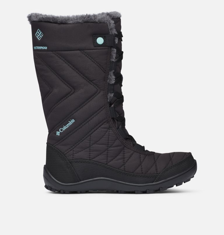 YOUTH MINX™ MID III WP OMNI-HE | 010 | 7 Botte De Neige Minx™ Mid III WP Omni-Heat™ Junior, Black, Iceberg, front