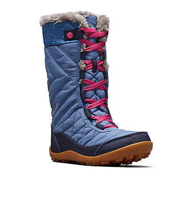 Big Kids' Minx™ Mid III Print Waterproof Omni-Heat™ Boot YOUTH MINX™ MID III PRINT OMNI-HEAT™ | 439 | 1, Bluebell, Pink Ice, 3/4 front