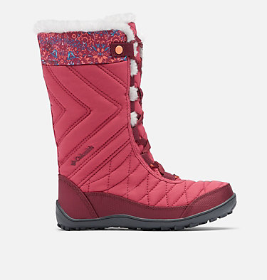 Big Kids' Minx™ Mid III Print Waterproof Omni-Heat™ Boot YOUTH MINX™ MID III PRINT OMNI-HEAT™ | 439 | 1, Dark Fuchsia, Lychee, front
