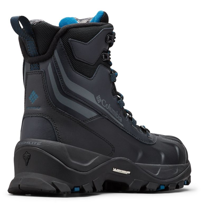 BUGABOOT™ PLUS IV OMNI-HEAT™ | 010 | 10 Men's Bugaboot™ Plus IV Omni-Heat™ Boot, Black, Phoenix Blue, 3/4 back