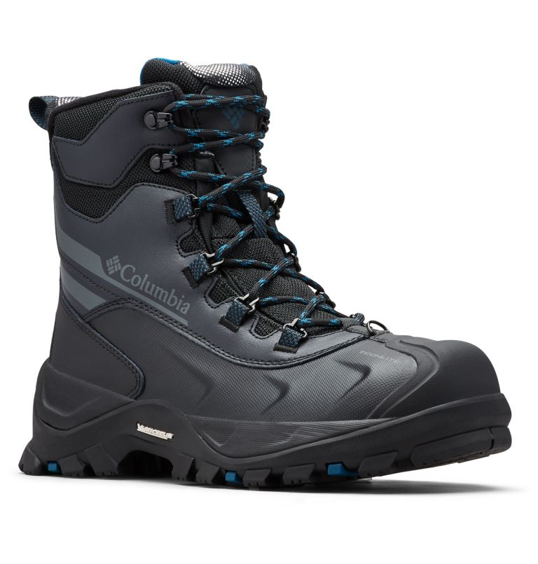 BUGABOOT™ PLUS IV OMNI-HEAT™ | 010 | 10 Men's Bugaboot™ Plus IV Omni-Heat™ Boot, Black, Phoenix Blue, 3/4 front
