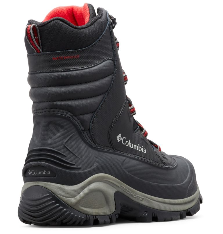 BUGABOOT™ III WIDE | 010 | 12 Men's Bugaboot™ III Boot - Wide, Black, Bright Red, 3/4 back