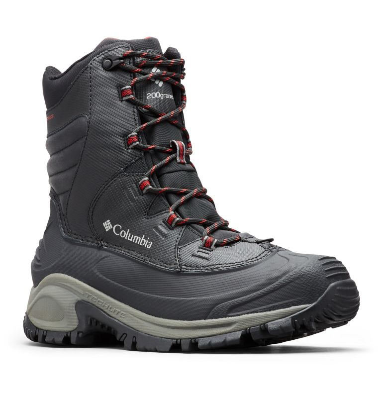 BUGABOOT™ III WIDE | 010 | 10.5 Men's Bugaboot™ III Boot - Wide, Black, Bright Red, 3/4 front