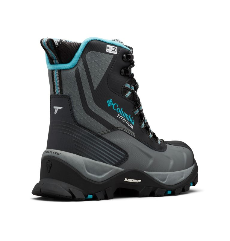 POWDERHOUSE™ TITANIUM OMNI-HEAT™ 3D OUTD | 010 | 5 Women's Powderhouse Titanium Omni-Heat™ 3D OutDry™ Boot, Black, Pacific Rim, 3/4 back
