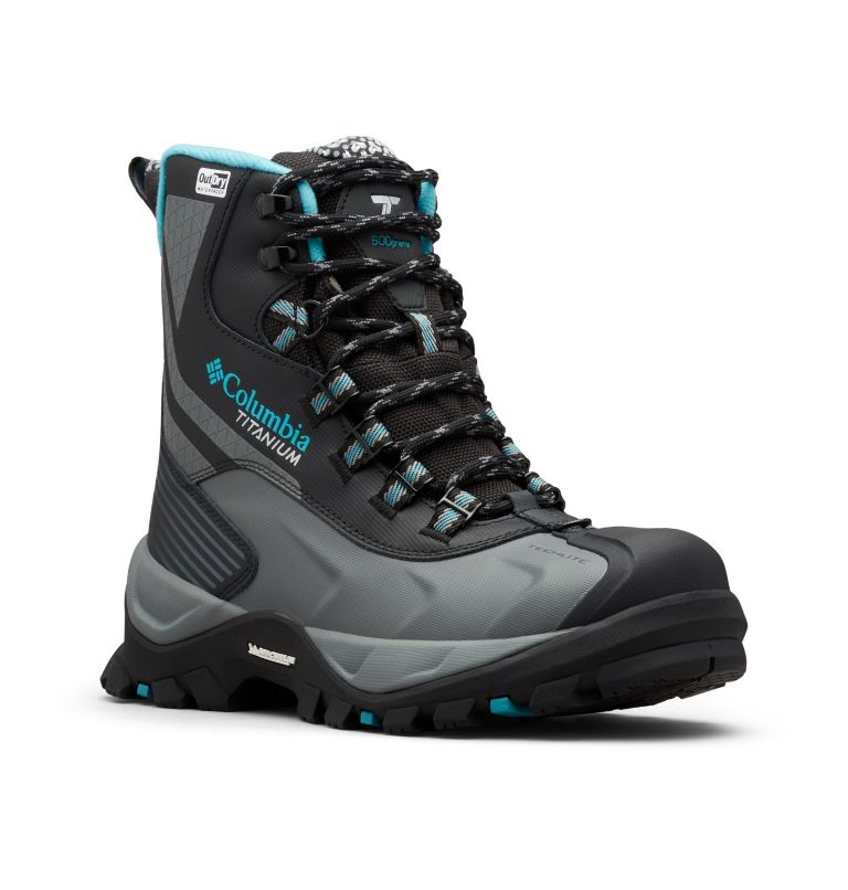 POWDERHOUSE™ TITANIUM OMNI-HEAT™ 3D OUTD | 010 | 5 Women's Powderhouse Titanium Omni-Heat™ 3D OutDry™ Boot, Black, Pacific Rim, 3/4 front