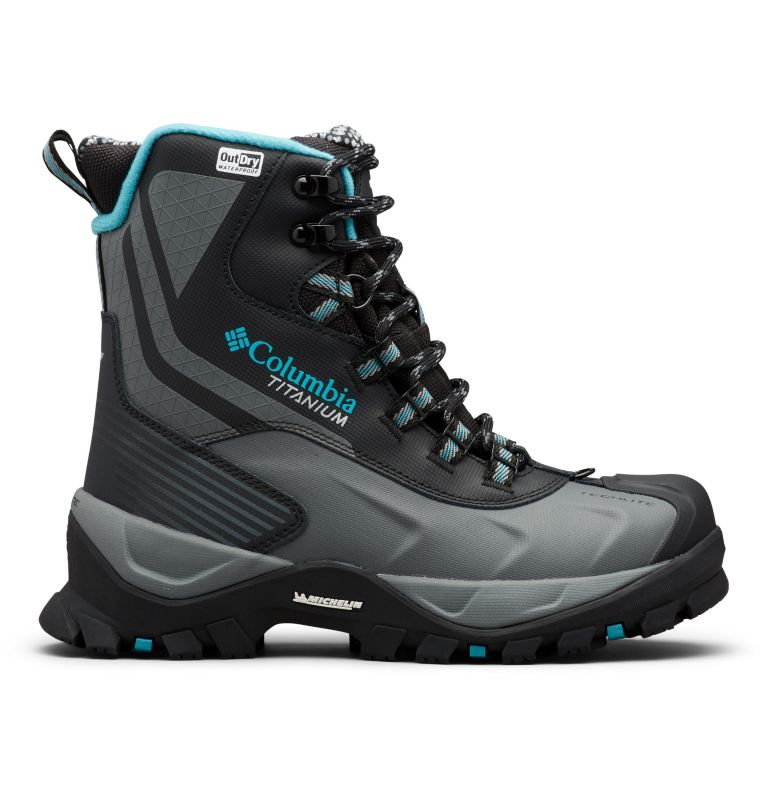 POWDERHOUSE™ TITANIUM OMNI-HEAT™ 3D OUTD | 010 | 5 Women's Powderhouse Titanium Omni-Heat™ 3D OutDry™ Boot, Black, Pacific Rim, front