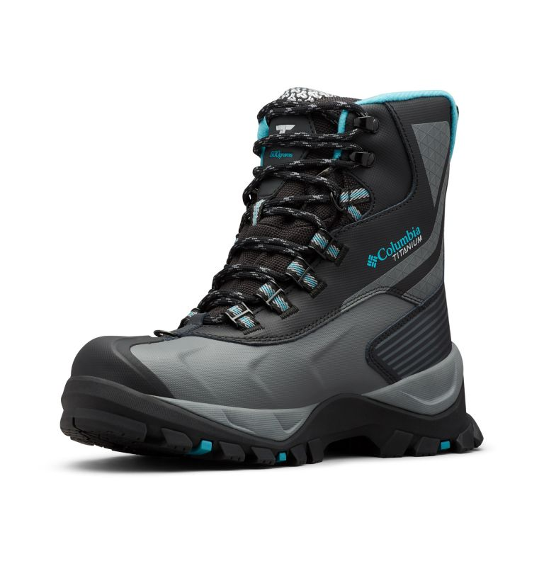 POWDERHOUSE™ TITANIUM OMNI-HEAT™ 3D OUTD | 010 | 5 Women's Powderhouse Titanium Omni-Heat™ 3D OutDry™ Boot, Black, Pacific Rim