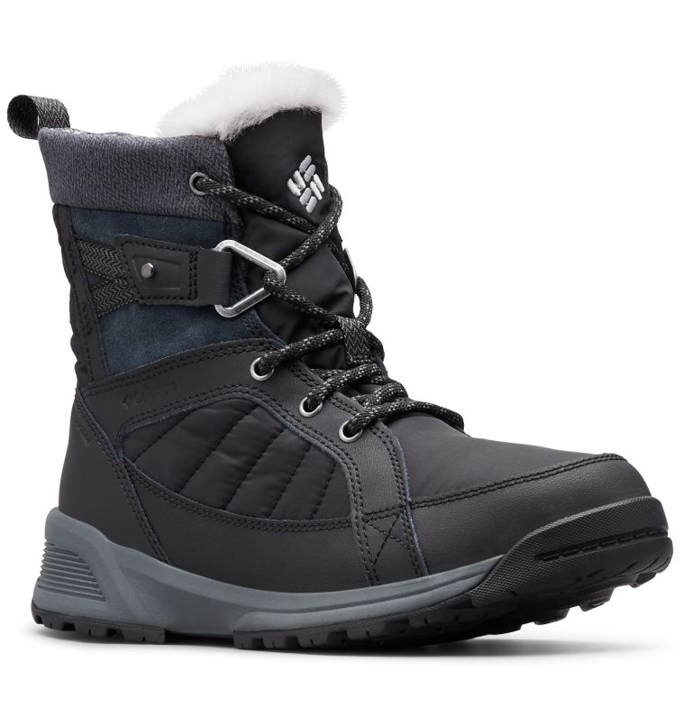MEADOWS™ SHORTY OMNI-HEAT™ 3D | 010 | 6.5 Scarponi da neve Meadows™ Omni-Heat™ Mid-Cut da donna, Black, Steam, 3/4 front